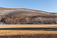Cornwall, New York - A view of Clove Brook Farm and Schunnemunk Mountain on the afternoon of  March 12, 2019.