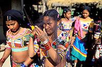 Nepal - Region du Teraï - Ethnie Rana Tharu - La fête de Holi