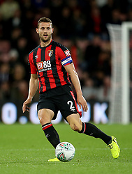 """AFC Bournemouth Simon Francis during the Carabao Cup, third round match at the Vitality Stadium, Bournemouth. PRESS ASSOCIATION Photo. Picture date: Tuesday September 19, 2017. See PA story SOCCER Bournemouth. Photo credit should read: Steven Paston/PA Wire. RESTRICTIONS: EDITORIAL USE ONLY No use with unauthorised audio, video, data, fixture lists, club/league logos or """"live"""" services. Online in-match use limited to 75 images, no video emulation. No use in betting, games or single club/league/player publications."""