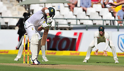 Cape Town-180322 Proteas Dean Elgar betting against  Australian  in the 3rd test of the Sunfoil cricket test at Newlands cricket stadium.The Proteas will play their third test against Australia this weekend .Photograph:Phando Jikelo/African News Agency/ANA