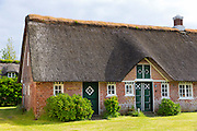 Traditional thatched cottage houses on Fano Island - Fanoe - South Jutland, Denmark