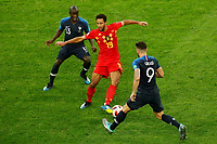 SAINT PETERSBURG, RUSSIA - JULY 10: Moussa Dembele (C) of Belgium national team vies for the ball with Ngolo Kante (L) and Olivier Giroud of France national team during the 2018 FIFA World Cup Russia Semi Final match between France and Belgium at Saint Petersburg Stadium on July 10, 2018 in Saint Petersburg, Russia. MB Media