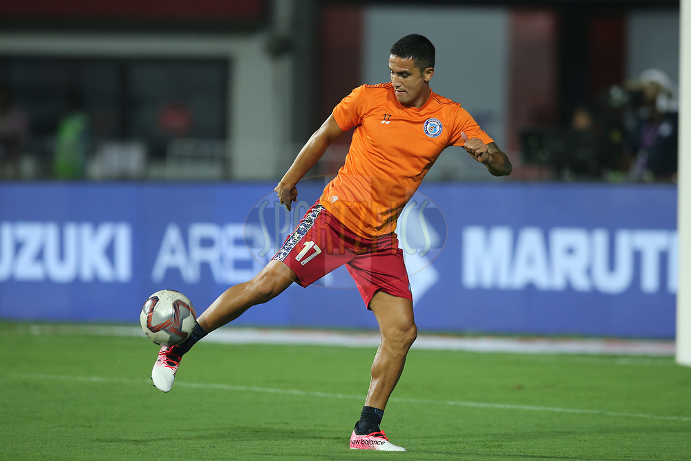 Tim Cahill of Jamshedpur FC during the warmup session before the start of the match 25 of the Hero Indian Super League 2018 ( ISL ) between Jamshedpur FC and FC Goa held at JRD Tata Sports Complex, Jamshedpur, India on the 1st November  2018<br /> <br /> Photo by: Deepak Malik /SPORTZPICS for ISL