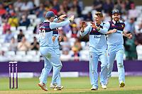 Cricket - 2021 Royal London 50-over Cup - Final - Glamrogan vs Durham - Trent Bridge<br /> <br /> Scott Borthwick of Durham celebrates taking the wicket of Joe Cooke of Glamorgan.<br /> <br /> COLORSPORT/Ashley Western
