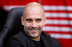 """Manchester City manager Pep Guardiola prior to the beginning of the Premier League match at St Mary's Stadium, Southampton. PRESS ASSOCIATION Photo. Picture date: Sunday December 30, 2018. See PA story SOCCER Southampton. Photo credit should read: Adam Davy/PA Wire. RESTRICTIONS: EDITORIAL USE ONLY No use with unauthorised audio, video, data, fixture lists, club/league logos or """"live"""" services. Online in-match use limited to 120 images, no video emulation. No use in betting, games or single club/league/player publications."""