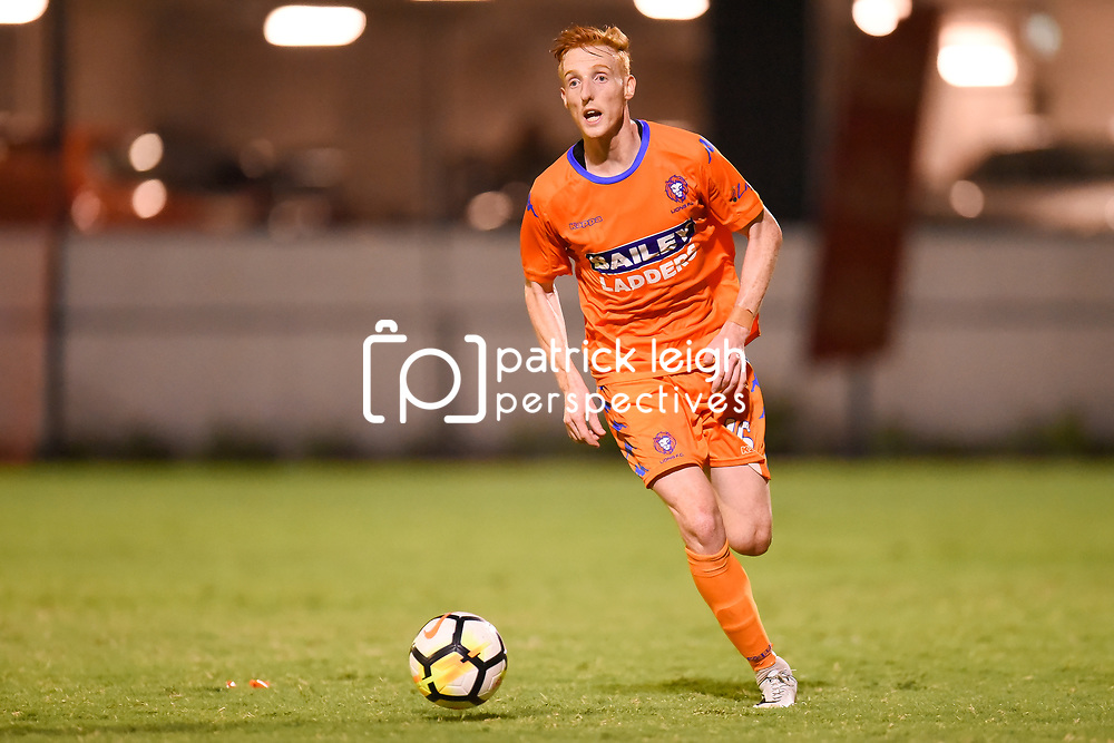 BRISBANE, AUSTRALIA - JANUARY 27: Josh Brindell-South of Lions in action during the Kappa Silver Boot Grand Final match between Lions FC and Brisbane Strikers on January 27, 2018 in Brisbane, Australia. (Photo by Patrick Kearney)