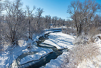 Clear Creek in Buffalo was looking very scenic on a sunny bluebird day after a fresh snowfall.