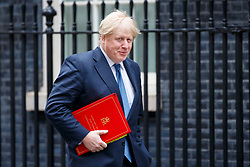© Licensed to London News Pictures. 14/03/2017. London, UK. Foreign Secretary BORIS JOHNSON attends a cabinet meeting in Downing Street, London on Tuesday, 14 March 2017. Photo credit: Tolga Akmen/LNP