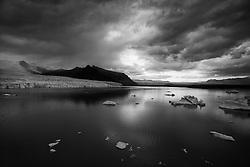 Glacier at the lake Fjallsarlon, south east Iceland - Fjallsárlón