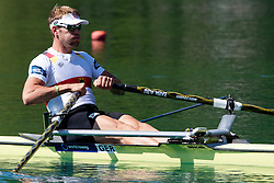 Marcel Hacker of Germany during Men's Single Sculls at Rowing World Championships Bled 2011 on September 3, 2011, in Bled, Slovenia. (Photo by Matic Klansek Velej / Sportida)