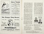 All Ireland Senior Hurling Championship Final,.Brochures,.01.09.1946, 09.01.1946, 1st September 1946, .Cork 7-5, Kilkenny 3-8, .Minor Dublin v Tipperary.Senior Cork v Kilkenny.Croke Park, ..Advertisements, Orrwear Overalls & Sportswear, The Green Cinema St Stephen's Green, McDowell's The Happy Ring House, ..Poems, The Rose of Mooncoin,