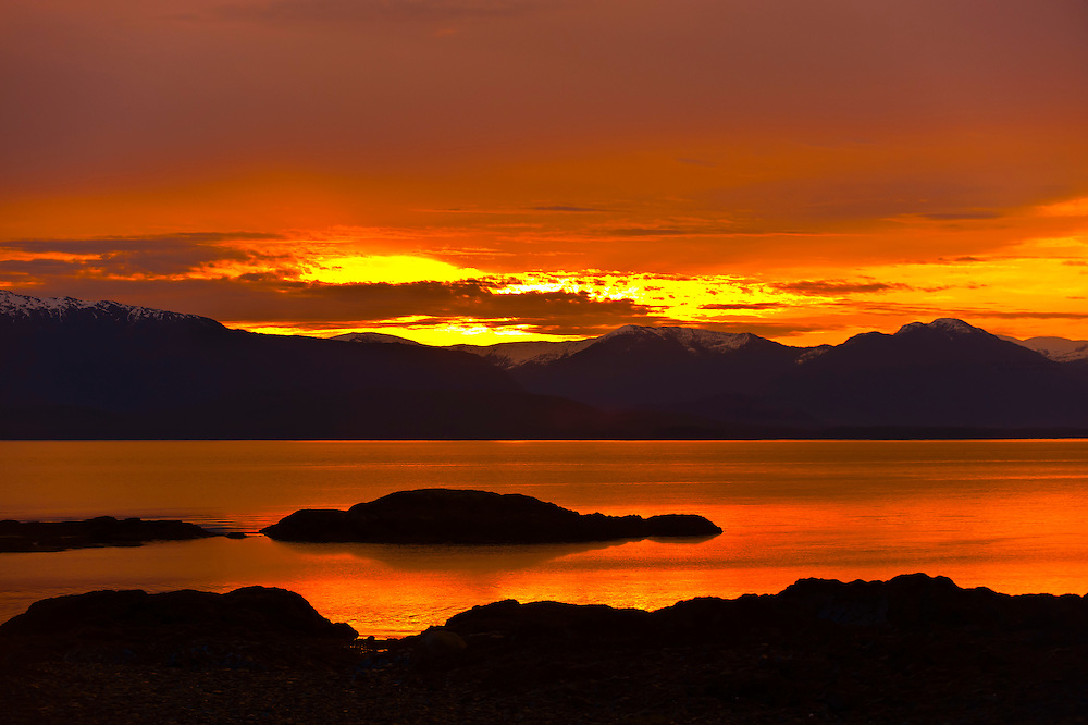 Sunrise, Coffman Cove, Prince of Wales Island, Southeast Alaska, USA