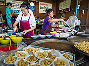 18 APRIL 2015 - BANGKOK, THAILAND:  A noodle soup stall in the Chatuchak Weekend Market in Bangkok. Chatuchak Weekend Market in Bangkok is reportedly the largest market in Thailand and the world's largest weekend market. Frequently called J.J., it covers more than 35 acres and contains upwards of 5,000 stalls.       PHOTO BY JACK KURTZ