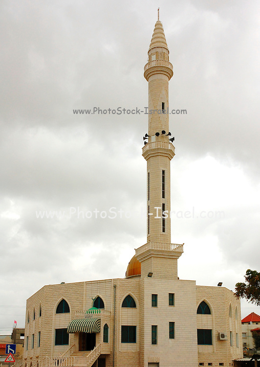 Israel, Negev, Rahat a Bedouin city established in 1972. The Mosque