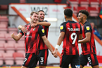 Football - 2020 / 2021 EFL Championship - AFC Bournemouth vs. Blackburn Rovers<br /> <br /> Bournemouth's Jack Stacey celebrates his opening goal with skipper Bournemouth's Steve Cook at the Vitality Stadium (Dean Court) Bournemouth <br /> <br /> COLORSPORT/SHAUN BOGGUST