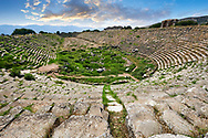 Roman ruins of the circus stadium of Aphrodisias Archaeological Site, Aydin Province, Turkey. .<br /> <br /> If you prefer to buy from our ALAMY PHOTO LIBRARY  Collection visit : https://www.alamy.com/portfolio/paul-williams-funkystock/aphrodisias-site-turkey.html<br /> <br /> Visit our TURKEY PHOTO COLLECTIONS for more photos to download or buy as wall art prints https://funkystock.photoshelter.com/gallery-collection/3f-Pictures-of-Turkey-Turkey-Photos-Images-Fotos/C0000U.hJWkZxAbg