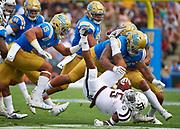 UCLA Athletics -  UCLA Bruins Football versus Texas A&M University Aggies. The Rose Bowl, Pasadena, CA.<br /> September 3rd, 2017<br /> Copyright  Don Liebig/ASUCLA<br /> 170903_FBC_0302.NEF