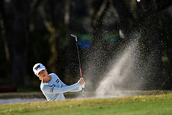 January 19, 2019 - Lake Buena Vista, FL, U.S. - LAKE BUENA VISTA, FL - JANUARY 19: Lydia Ko of New Zealand plays out of the sand on hole 16 during the third round of the Diamond Resorts Tournament of Champions on January 19, 2019, at Tranquilo Golf Course at Fours Seasons Orlando in Lake Buena Vista, FL. (Photo by Roy K. Miller/Icon Sportswire) (Credit Image: © Roy K. Miller/Icon SMI via ZUMA Press)
