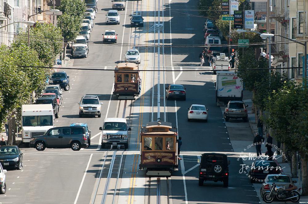 Van Ness Ave., California & Market Steets Cable Car, San Francisco, California, USA