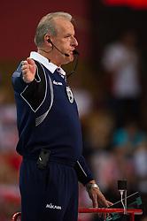 21-09-2014 POL: FIVB WK Finale Polen - Brazilie, Katowice<br /> Referee, Scheidsrechter Frans Loderus (NED)<br /> <br /> ***NETHERLANDS ONLY***