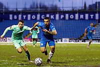 Jordan Williams. Stockport County FC 1-1 Boreham Wood FC. Vanarama National League. Edgeley Park. 23.1.21