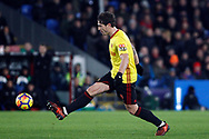 Daryl Janmaat of Watford in action. Premier League match, Crystal Palace v Watford at Selhurst Park in London on Tuesday 12th December 2017. pic by Steffan Bowen, Andrew Orchard sports photography.