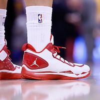 21 April 2014: Close view of Los Angeles Clippers forward Blake Griffin (32) shoes during the Los Angeles Clippers 138-98 victory over the Golden State Warriors, during Game Two of the Western Conference Quarterfinals of the NBA Playoffs, at the Staples Center, Los Angeles, California, USA.