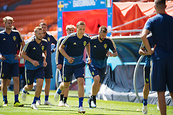 June 26, 2018 - Ekaterinburg, RUSSIA - 180626 Ludwig Augustinsson of the Swedish national football team at a practice session during the FIFA World Cup on June 26, 2018 in Ekaterinburg..Photo: Joel Marklund / BILDBYRN / kod JM / 87732 (Credit Image: © Joel Marklund/Bildbyran via ZUMA Press)
