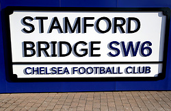 A general view of a Stamford Bridge sign prior to the Premier League match at Stamford Bridge, London.
