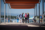 Plovdiv BULGARIA. 2017 FISA. Rowing World U23 Championships. Coaches Confer.<br /> <br /> Wednesday. AM, general Views, Course, Boat Area<br /> 09:28:02  Wednesday  19.07.17   <br /> <br /> [Mandatory Credit. Peter SPURRIER/Intersport Images].