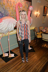 SCARLETT CARLOS CLARKE at a dinner hosted by Kate Spade NY to celebrate Chelsea in Bloom held at Daphne's, 112 Draycott Avenue, London on 20th May 2015.