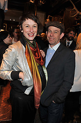 MARGARITA GLUZBERG and ANDY CUMMINGS at a reception hosted by Ralph Lauren Double RL and Dexter Fletcher before a private screening of Wild Bill benefitting FilmAid held at RRL 16 Mount Street, London on 26th March 2012.