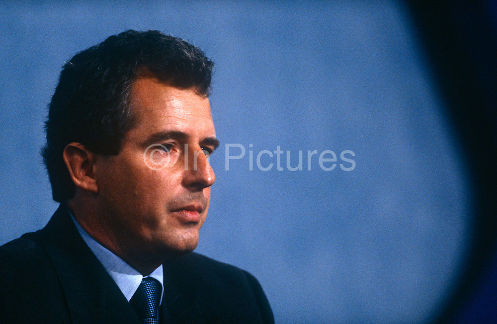 Minister of State for Foreign and Commonwealth Affairs and Conservative MP, William Waldegrave at the Conservative party conference on 11th October 1991 in Blackpool, England.