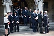THE DUKE OF KENT; THE DUKE OF GLOUCESTER ( REAR ), Service of thanksgiving for  Lord Snowdon, St. Margaret's Westminster. London. 7 April 2017