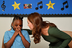 The Duchess of Cambridge during a visit to the Anna Freud Centre in London where she opened their new building, The Kantor Centre of Excellence.