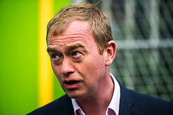 Pictured: Tim Farron<br /> Liberal Democrat leader Tim Farron MP visited Edinburgh today and joined local MSP Alex Cole-Hamilton and council candidates to campaign in the upcoming council election in StockbridgeGer Harley | EEm 13 April 2017