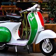 Vespa Italian Restaurant at Leicester Square, London, UK 23 September 2018.