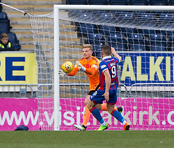 Falkirk's keeper Robbie Thomson and Inverness Caledonian Thistle's John Baird. Falkirk 0 v 0 Inverness Caledonian Thistle, Scottish Championship game played 14/10/2017 at The Falkirk Stadium.