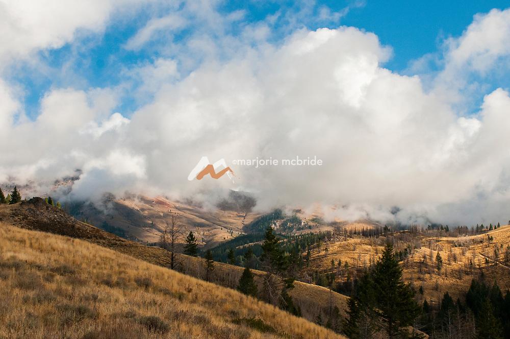 Mountain scenic Fairfield, Idaho.
