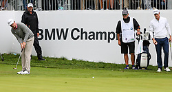 September 10, 2018 - Newtown Square, Pennsylvania, United States - Keegan Bradley putts the 18th green in a one-hole playoff against Justin Rose (R) during the final round of the 2018 BMW Championship. (Credit Image: © Debby Wong/ZUMA Wire)