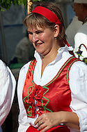 Woman in traditional costume at the Hungarian Regional Gastronomic Festival 2009 - Gyor ( Gy?r ) Hungary