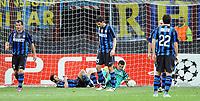 Milano, 05/04/2011<br /> Champions League/Inter-Schalke 04<br /> Gol Schalke 04: la delusione dell'Inter dopo il pareggio di Matip