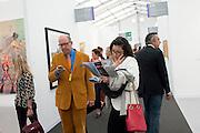 OPENING OF FRIEZE ART FAIR. Regent's Park. London.  12 October 2011. <br /> <br />  , -DO NOT ARCHIVE-© Copyright Photograph by Dafydd Jones. 248 Clapham Rd. London SW9 0PZ. Tel 0207 820 0771. www.dafjones.com.