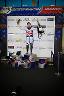 #65 (PHILLIPS Liam) GBR wins the Time Trial at the UCI BMX Supercross World Cup in Manchester, UK