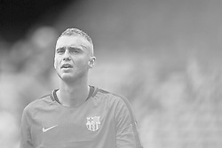 September 18, 2018 - Barcelona, Barcelona, Spain - (EDITORS NOTE: the image has been converted to black and white) Jasper Cillessen of FC Barcelona looks on prior to the UEFA Champions League group B match between FC Barcelona and PSV Eindhoven at Camp Nou on September 18, 2018 in Barcelona, Spain  (Credit Image: © David Aliaga/NurPhoto/ZUMA Press)