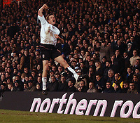Photo. Daniel Hambury.Digitalsport<br /> Carling Cup.<br /> Fulham v Chelsea. 30/11/2004.<br /> Fulham's Brian McBride celebrates his goal