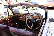 interior, 1951 Riley Drophead Special.<br /> 2011 Classic Car Show, Whiteman Park, Perth, Western Australia. March 20, 2011