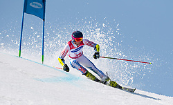 March 14, 2018 - Pyeongchang, South Korea - Jamie Stanton of the US during Giant Slalom competition Wednesday, March 14, 2018 at the Jeongson Alpine Center at the Pyeongchang Winter Paralympic Games. Photo by Mark Reis (Credit Image: © Mark Reis via ZUMA Wire)