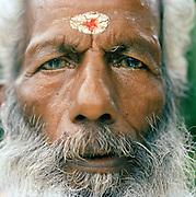 Portrait of a holy man, Kerala, India