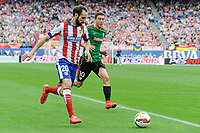 Atletico de Madrid´s Juanfran and Athletic Club´s Oscar de Marcos during 2014-15 La Liga match between Atletico de Madrid and Athletic Club at Vicente Calderon stadium in Madrid, Spain. May 02, 2015. (ALTERPHOTOS/Luis Fernandez)